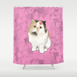 Cherry_the_flat_face_princess Shower Curtain
