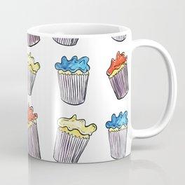 Sweet Tooth Cupcake Pattern Coffee Mug