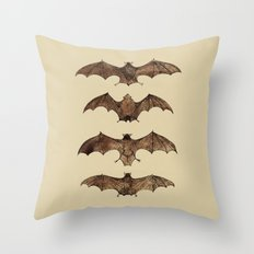 Bats zoology illustration Throw Pillow