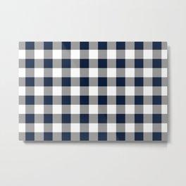 Blue and white Lumberjack  Metal Print