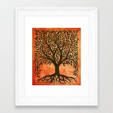 Tree Of Life Warm Tones Framed Art Print