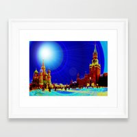 moscow Framed Art Prints featuring Moscow by JT Digital Art