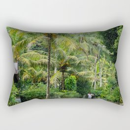 The Forager Through The Trees Rectangular Pillow