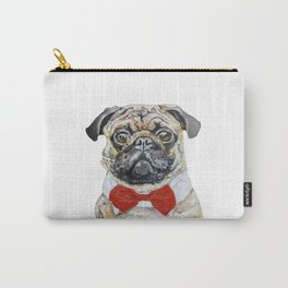 Pug. Oil painting. Carry-All Pouch