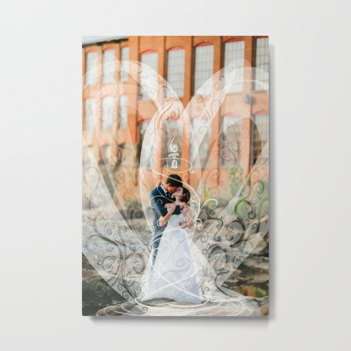 Edward and Holly- Art on wedding photo Metal Print