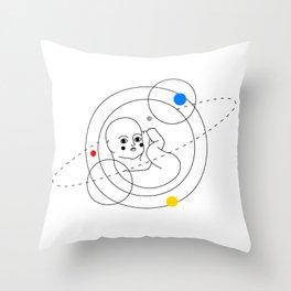 Star Child Throw Pillow