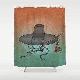 Minhwa: GAT Joseon Hat B Type) Shower Curtain