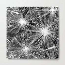 Bright stylish trendy wallpaper with dandelion seeds Metal Print