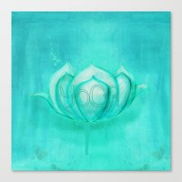 yoga Canvas Prints featuring Yoga by SannArt