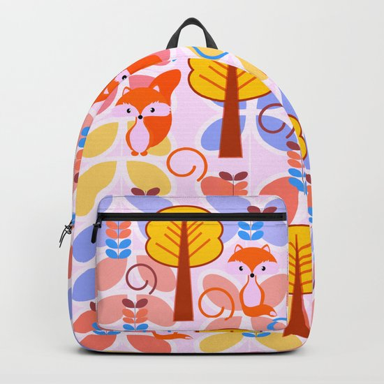 Cute foxes in a magical forest Backpack