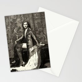 Annelee Patterson Ziegfeld Follies Model Jazz Age black and white photograph Stationery Cards