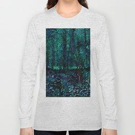 Vincent Van Gogh Trees & Underwood Teal Green Long Sleeve T-shirt