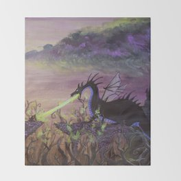 Maleficent's Wrath Throw Blanket