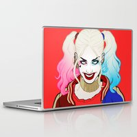 harley quinn Laptop & iPad Skins featuring  ♦ ♠ HARLEY QUINN ♥ ♣ by Mothling