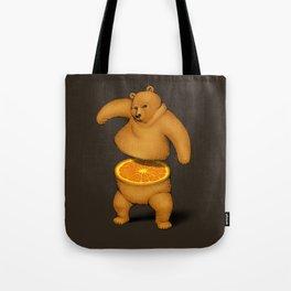 Orange Bear Tote Bag