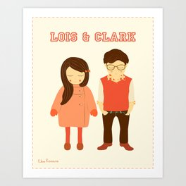 Lois and Clark - Superman The Younger Years - Comic Superhero Illustration Print Art Print