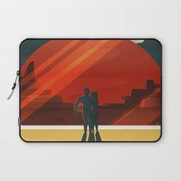 Travel Poster Phobos and Deimos (2015) Adventure awaits Explore Mars Ultimate Vacation Destinations Laptop Sleeve