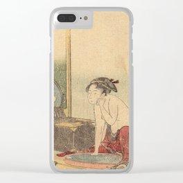 Hokusai, the toilet of a woman- manga, japan,hokusai,japanese,北斎,ミュージシャン Clear iPhone Case