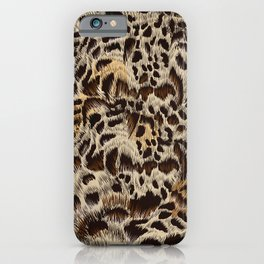 Beautiful fur high detailed vector leopard pattern design iPhone Case