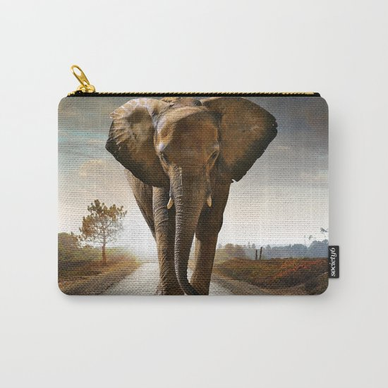 Lonely Elephant Carry-All Pouch