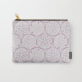 Sanddollar Pattern in Purple Carry-All Pouch