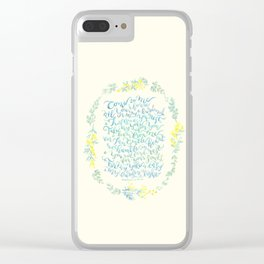 Come to Me - Matthew 11:28-30 Clear iPhone Case