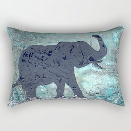 Majestic Series: Turquoise and silver Rectangular Pillow