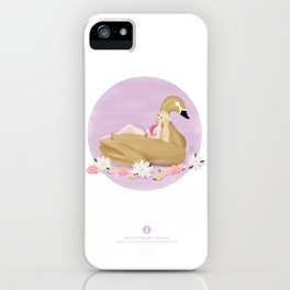 Summer Pool Party - Gold Swan Float F iPhone Case