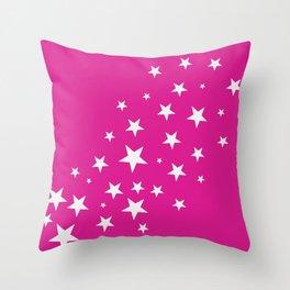 Simple Stars On Pink Art Throw Pillow
