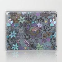 Colorful grey xmas pattern Laptop & iPad Skin