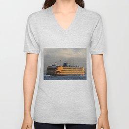 The Staten Island Ferry (Broadside) Unisex V-Neck