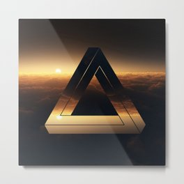 Triangle penrose clouds sunset Metal Print