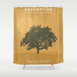 The Shawshank Redemption, 1994 (Minimalist Movie Poster) Shower Curtain