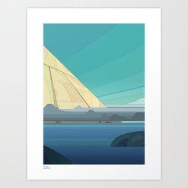 The Tanker Art Print