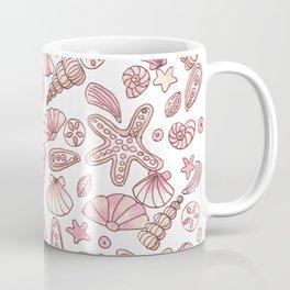 Millennial pink seashells Coffee Mug