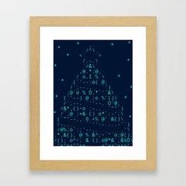 Christmas tree neon lights Framed Art Print