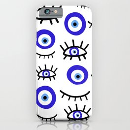mediterranean evil eye iPhone Case