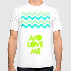 SHUT UP AND LOVE ME © - EMERALD GREEN - Mens Fitted Tee White SMALL