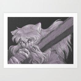 Black Tessaiga Art Print