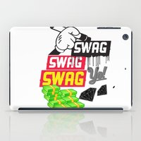 swag iPad Cases featuring SWAG by Mr. Magenta
