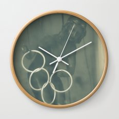 In a wooden box Wall Clock