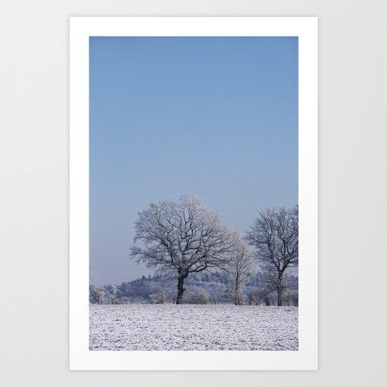 winter walk rural snow landscpape north Germany Art Print