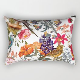 Floral and Birds XXXIII Rectangular Pillow