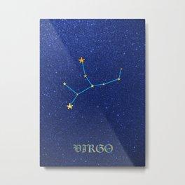 Constellations - VIRGO Metal Print