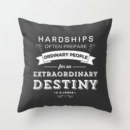 CS Lewis - Extraordinary Throw Pillow