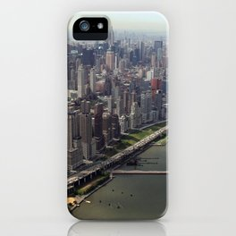 New York City near the river iPhone Case