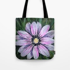Pink Daisy mixed media painting Tote Bag