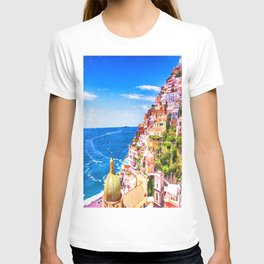 Colorful Positano Italy T-shirt