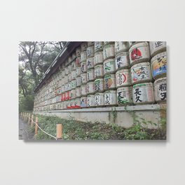 Sake Offerings Metal Print