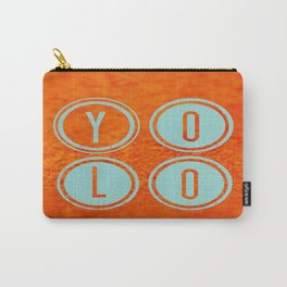 YOLO Light Blue Carry-All Pouch